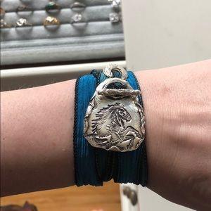 Jewelry - Silver horse wrap bracelet